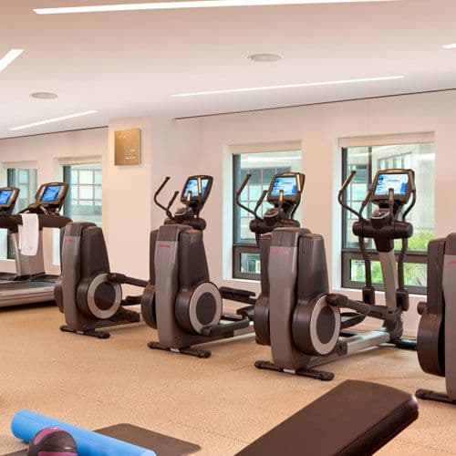 The 24-hour Fitness Center offers state-of-the-art exercise equipment.